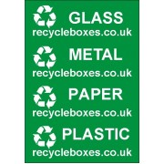 Waste separation labels - Set of 4