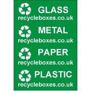 Waste separation labels - Set of 4